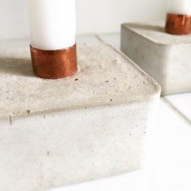 Kerzenständer, Beton, Kupfer, Caja, Kerze, Urban, Dekoration, Urban Yards